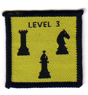1980s Chess Staged Badge