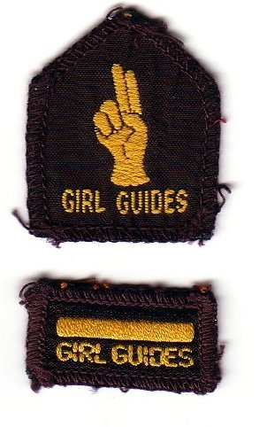 Brownie Golden Bar and Hand Badges 1950s