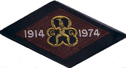 Brownies 60th Birthday Badge 1974 (diamond)