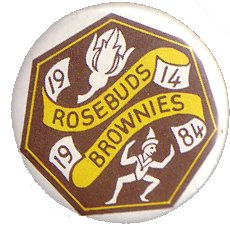 Brownies 70th Birthday Badge 1984 pinbadge